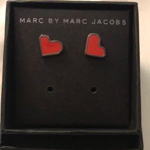 NWOT Marc by Marc Jacobs Heart earrings